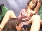 【レズ】混雑したバスの車内で清楚な美人さんが痴女お姉さんに迫られて他にも乗客がいるのにペニスバンドで突かれちゃうドキドキレズエッチ FC2女性向け無料アダルト動画
