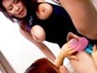【レズ】胸とアソコの部分が切り取られて丸見えの卑わいな水着の美熟女お姉様がバスルームでねっとりと絡み合う大人の濃厚レズエッチ XVIDEOS女性専用無料エロ動画