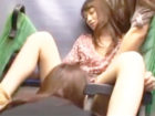 【レズ】痴女なレズビアン女性だらけのバスでお姉さんたちに囲まれたノンケの清楚系女子が抵抗できないままレズエッチされてペニバン挿入まで FC2 女の子のための無料H動画