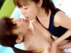 【レズ】屋外のプールサイドでロリ系少女のスクール水着を食い込ませながら愛撫しちゃうスレンダーお姉さんのレズエッチ Pornhub女性専用安心安全無料アダルト動画