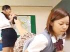 【レズ】身体の柔らかいスレンダー女生徒JKの足の匂いを嗅ぎながら興奮しちゃう痴女な女教師の教室レズエッチ 裏アゲサゲ女性専用安心安全無料アダルト動画